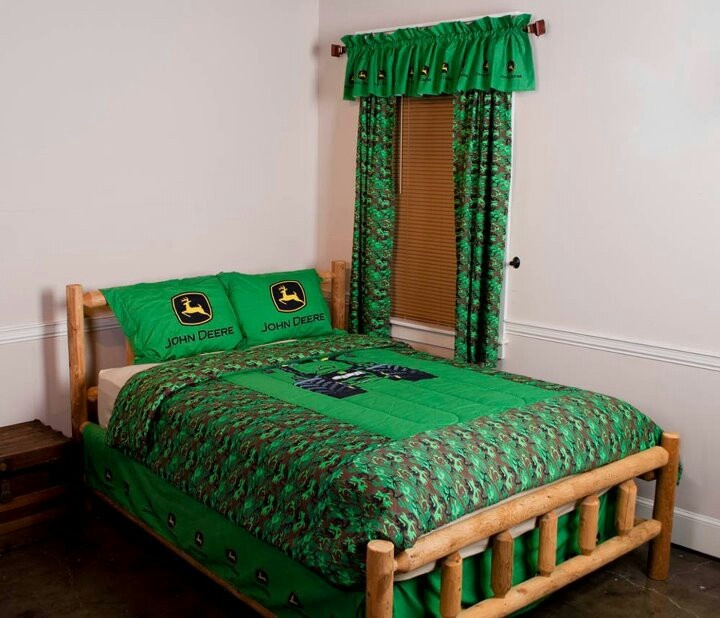 John deere, Curtains and Beds on Pinterest
