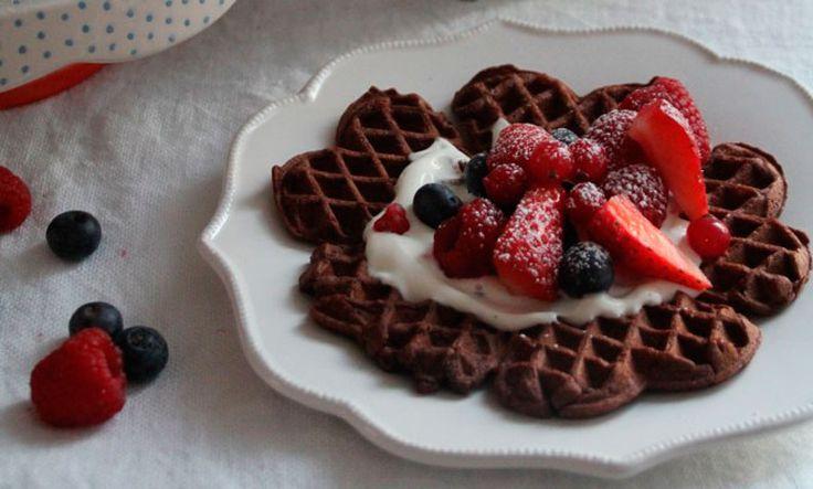 Sunne sjokoladevafler. FOTO: Mat på bordet