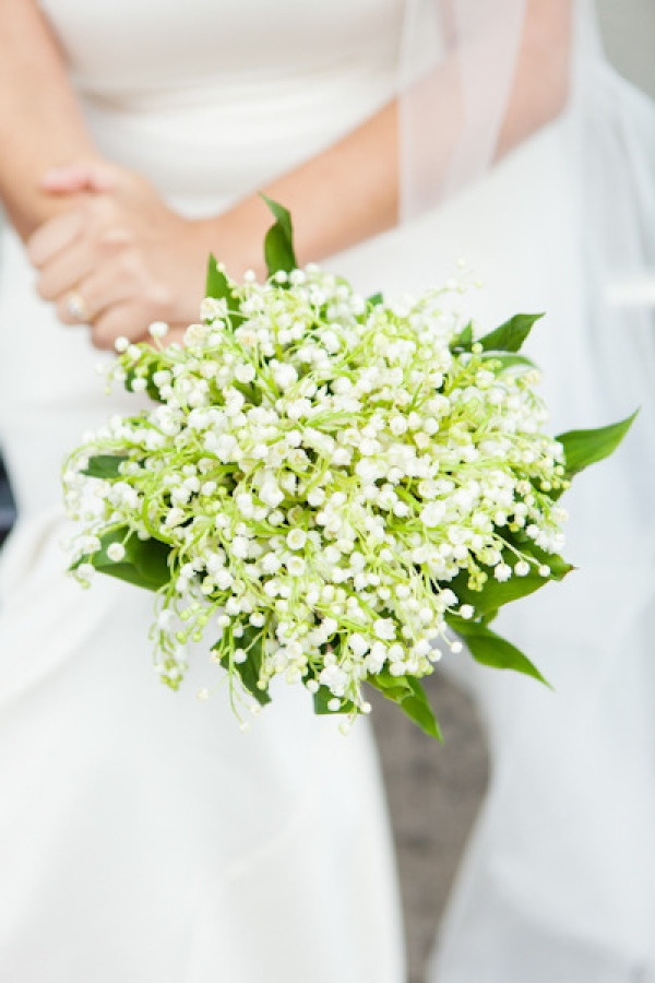 lily of the valley bouquet from Mayra's (of alwaysabridesmaid.us) wedding; Photography by