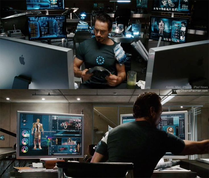 3D printing technology used in Iron Man by Tony Stark with Apple Macs