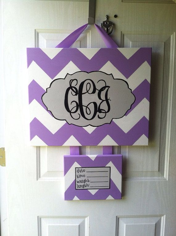 Hospital Door Hanger birth announcement canvas art hospital door wreath on Etsy, $45.00