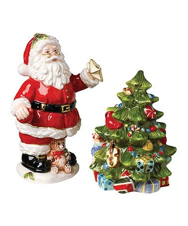 Take a look at this Santa & Christmas Tree Salt & Pepper Shakers by Kaldun and Bogle on #zulily today!