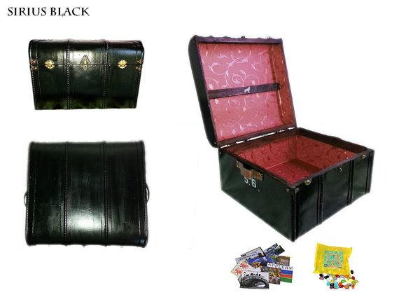 Sirius Black Hogwarts Trunk. Great display case for all your Harry Potter book, dvds, wands, etc. Your very own trunk with authentic antique look,  Made to order