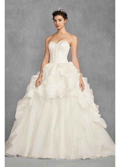 3bd56e8f7e36 White by Vera Wang Tiered Organza Wedding Dress VW351411 | Going to ...