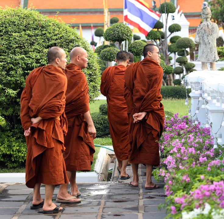 Monks at Wat Arun, Bangkok