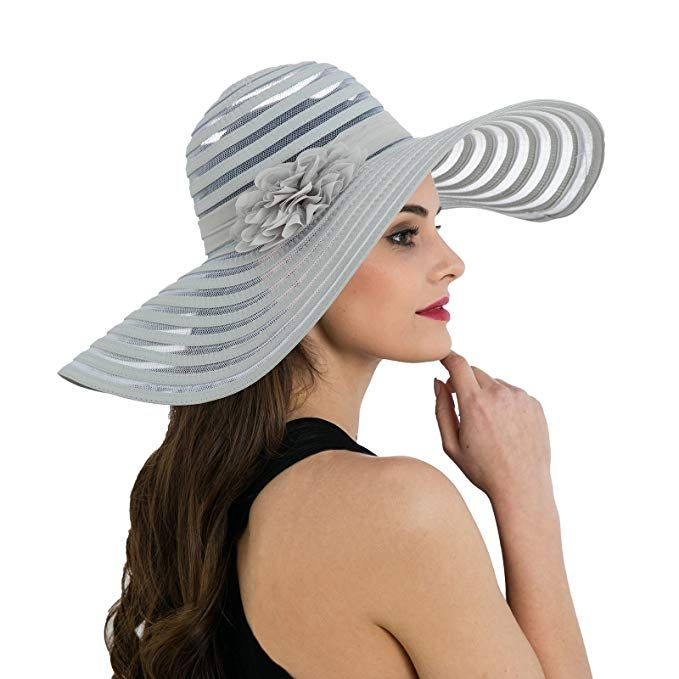d1d5f6455 Dantiya Women's Foldable Beach Hat Wide Brim Flower Mixed-color ...