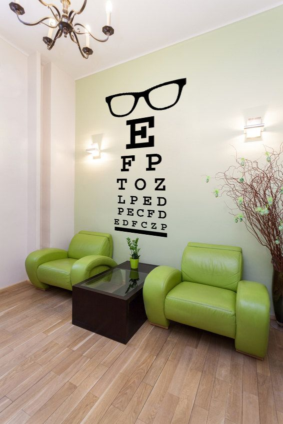 Wall Decal Glasses Words Letters Eye Doctor Optometrist Letters Dorm Decor Fashion Trendy Eyewear Specs Frames Sunglasses Hipster
