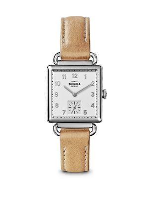 SHINOLA The Cass Stainless Steel & Leather Strap Watch. #shinola #watch