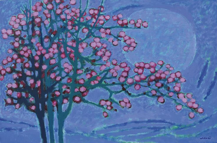 Kim Whanki 김환기 (Korea 1913-1974)Plum Blossoms (c. 1957-1959)oil on canvas 61 x 91.5 cm