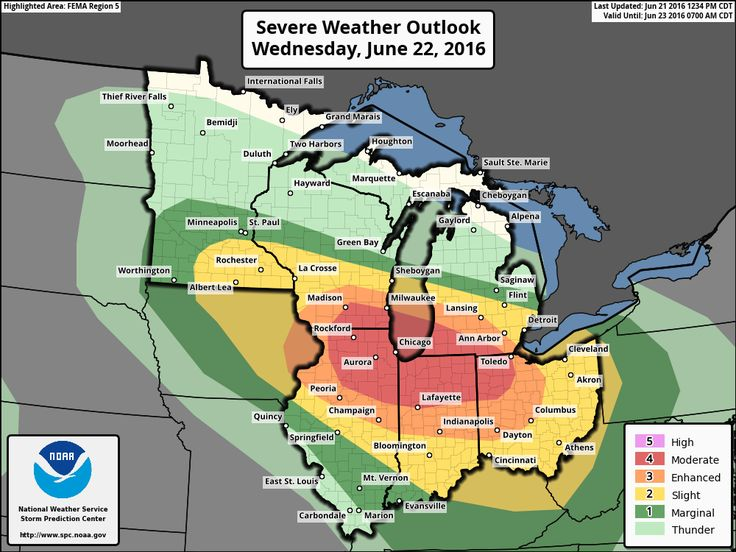 Our neighbors in the Midwest into the Ohio Valley will be dealing with significant severe weather threat tomorrow. Widespread damaging wind gusts, tornadoes, and very large hail are all likely. Rockford, Chicago, Lafayette, and Ann Arbor are a few cities included in the risk.