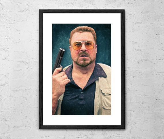 Walter Sobchak  The Big Lebowski  Painting by TaylanSoyturkFineArt