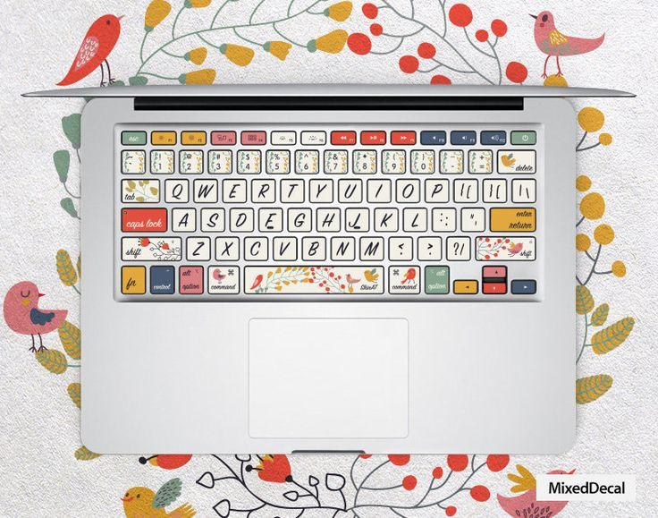 Sticker pour clavier : motif fleurs n°2