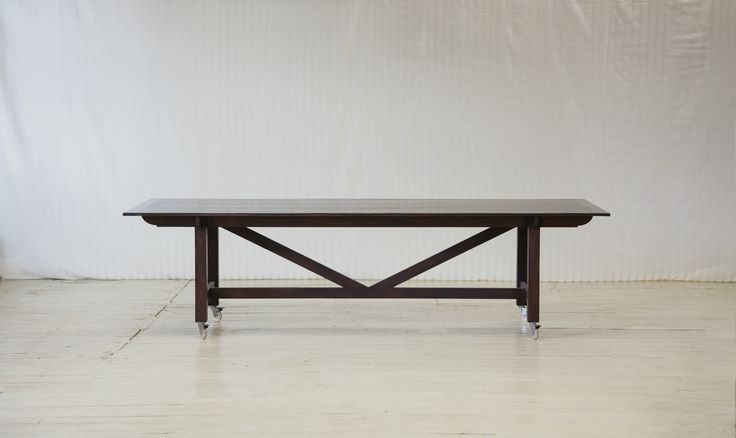 Canteen dining table handmade in vintage brushbox