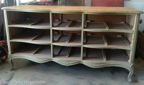 She Found A Dresser Without Drawers At A Garage Sale. Now She Uses It For THIS! So Smart!