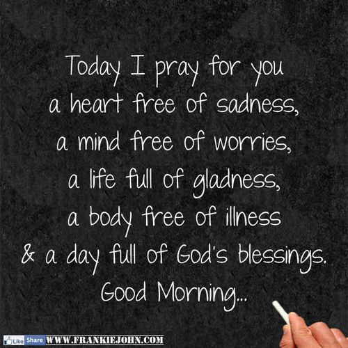 God's blessings to each of you.