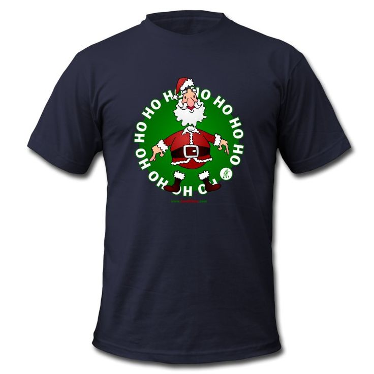 #Christmas #Tshirt #Santa #SantaClaus  Santa Claus Ho Ho Ho T-shirt. Now available in the newly opened Christmas Sweater, T-shirt and Goodies shop for he USA. #Spreadshirt #Cardvibes #Tekenaartje