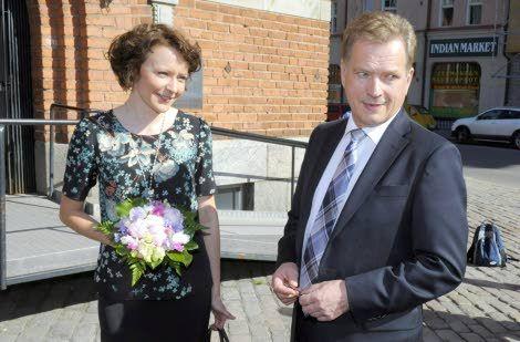 Presidentti Niinistö ja rouva Jenni Haukio