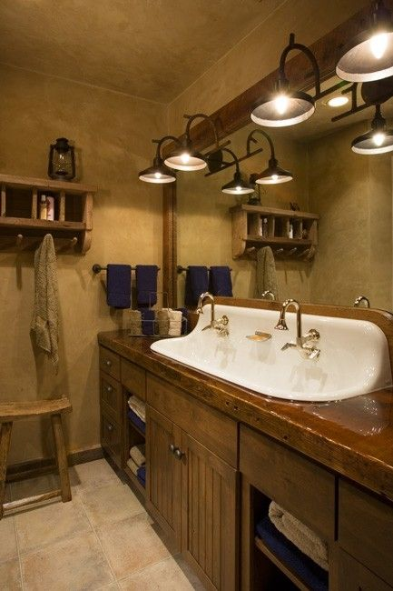 Rustic bathroom for the boys