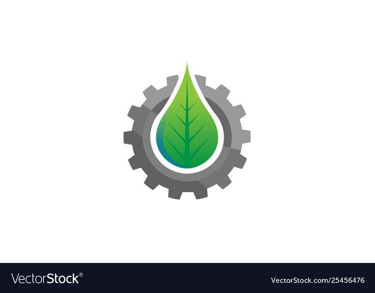 Creative gear leaf agricultural technology logo Vector Image , #AD, #leaf, #agricultural, #Creative, #gear