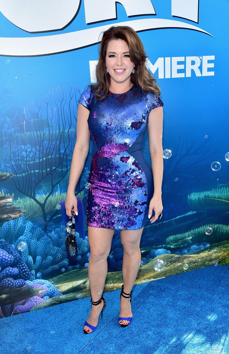 Alicia Machado | Stars made a fashion splash at the Finding Dory Premiere | [ https://style.disney.com/entertainment/2016/06/09/fashion-at-the-finding-dory-premiere/#ellen-degeneres ]