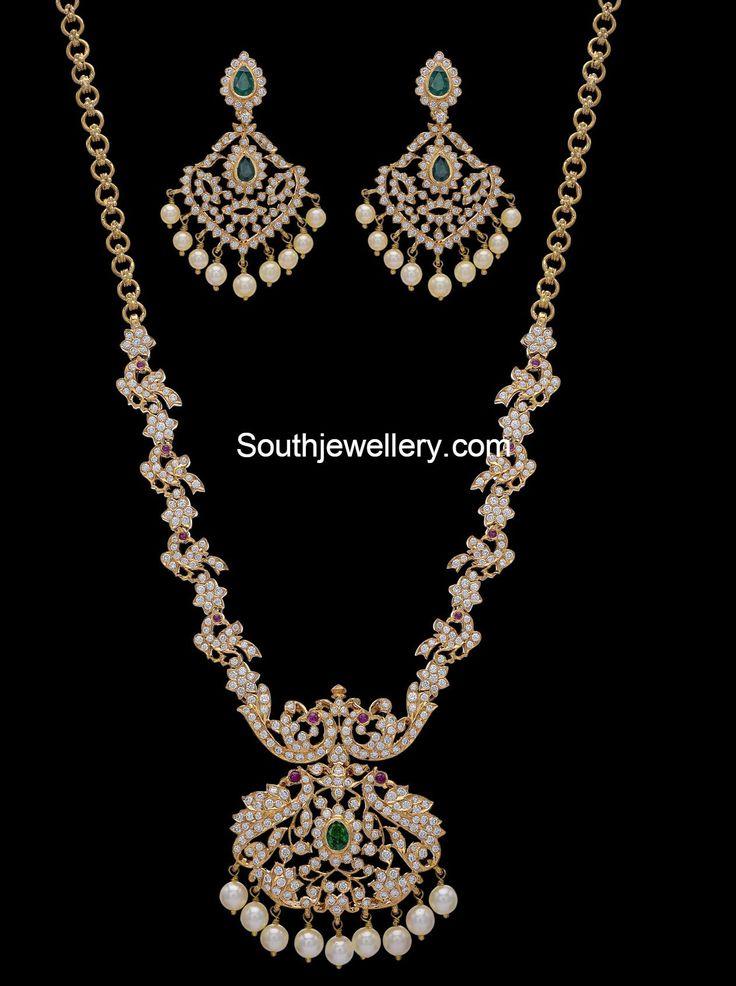 Peacock Diamond Haram Set photo