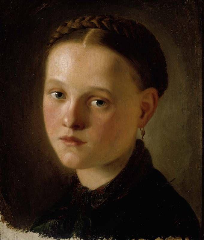 Nuori neito, 1858 – öljy kankaalle, kiinnitetty pahville – Frosterus-Såltin, Alexandra, Ateneumin taidemuseo - Frosterus on 1800-luvun tuotteliain kirkkotaiteilija ja Suomen ensimmäinen naispuolinen piirustuskoulun opettaja.