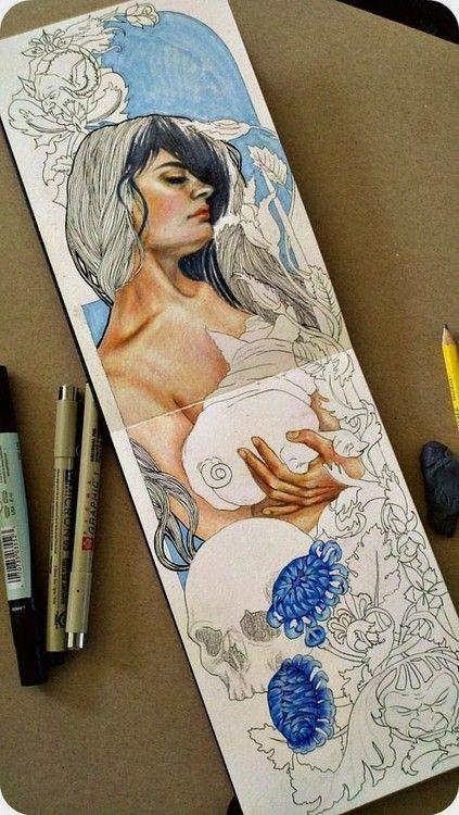 moleskine art (artist unknown)