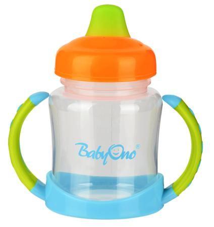 BabyOno с мягким носиком 180 мл с ручками  — 491р. -------------  Кружка-непроливайка с мягким носиком поможет вашему крохе быстро привыкнуть пить самостоятельно. Он имеет яркий привлекательный дизайн и точно понравится малышу. Кружка-непроливайка развивает мелкую моторику ребенка, стимулирует к самостоятельности, способствует тренировке зрения. Его очень удобно использовать дома.   Особенности: идеально подходит для деток, которые уже учатся пить самостоятельно имеет практичный дизайн…