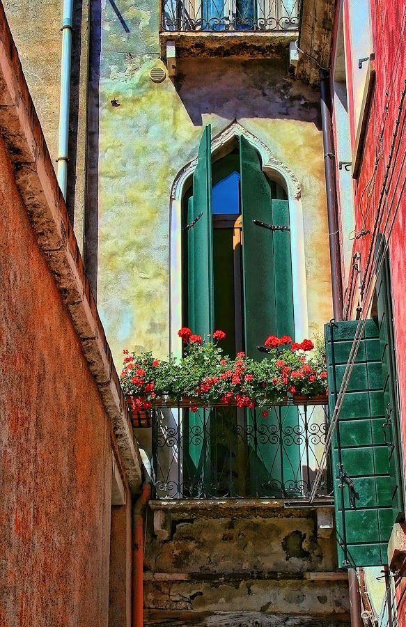 Green Doors in Venice, Italy.  There are LOTS of cool doors in Venice!