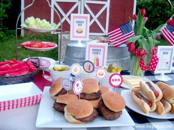 Bbq Burgers Hotdogs Backyard Barbecues Pinterest