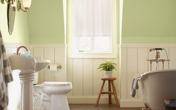 The home depot pistachio ice cream glidden pistachio ice for Green bathroom paint colors