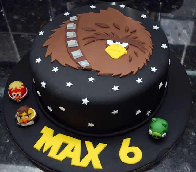 Angry Birds Star Wars cake.  I don't know how I feel about a black cake but pretty cool!