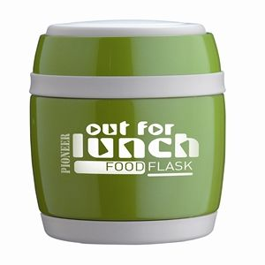You can now bring a hot nutritious lunch with you on cold days and one that will stay cool all day long on hot days with one of these guys just added to our range. Comes with a folding spoon which fits inside lid.