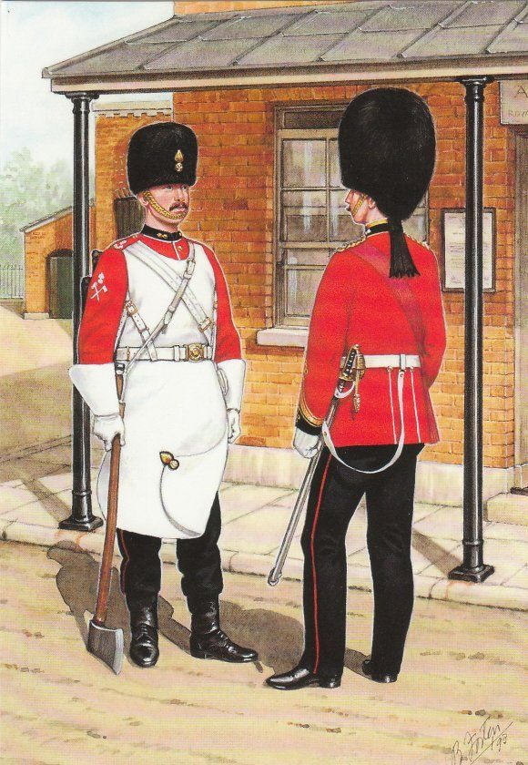 Royal Welsh Fusilier Officer and Pioneer c1890.