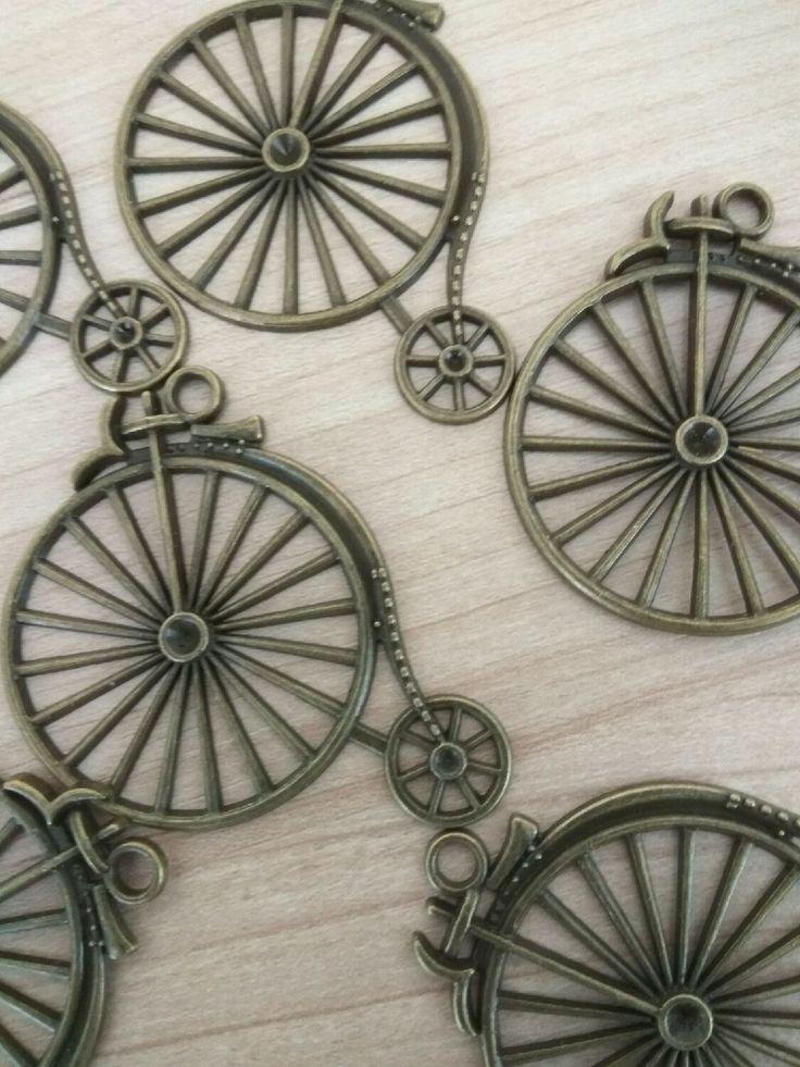 Купить Подвеска Велосипед, винтаж, бронза. - подвеска, бронзовая подвеска, подвеска под бронзу