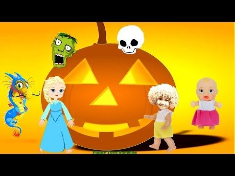 Halloween Night Song Trick or Treat Cartoon Children Animation Elsa Skeletons Witch Ghost Monster - YouTube