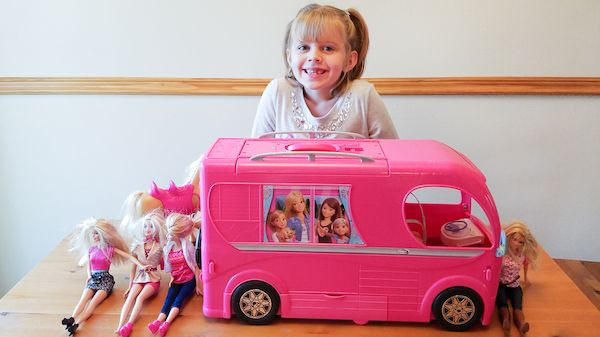 This Barbie Pop-Up Camper review covers all features and accessories of the newest Barbie camper plus a video review so you can see all sides inside and out! My daughter loves her Pop-Up camper! #TheBarbieCamper #ad