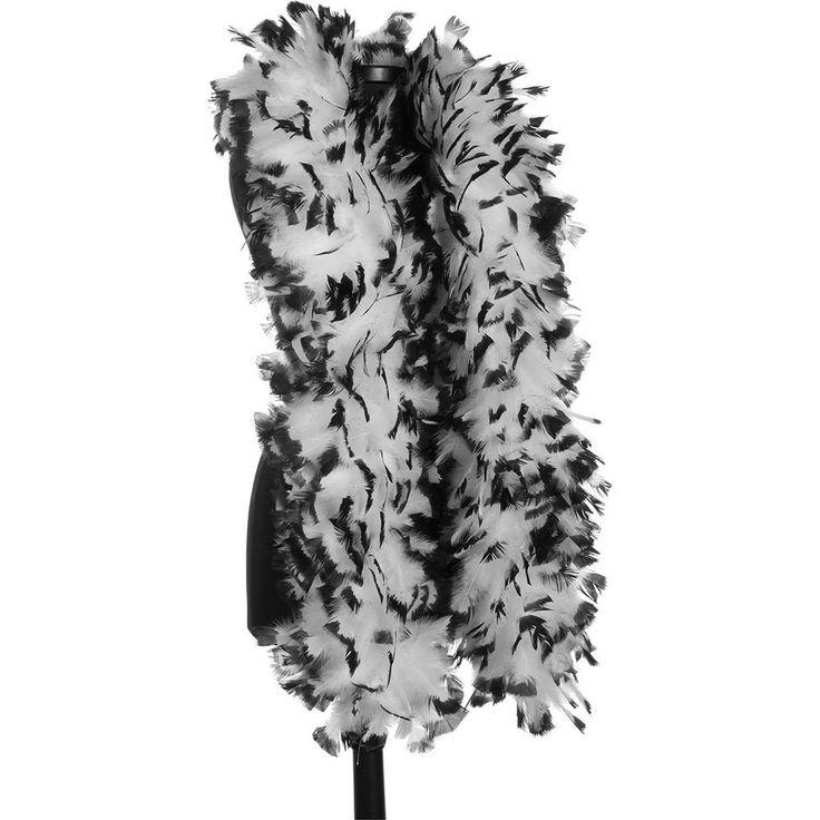 White with Black Tip 150 Gram Turkey Feather Boas - Turkey Ruff - Halloween #DreamAngel