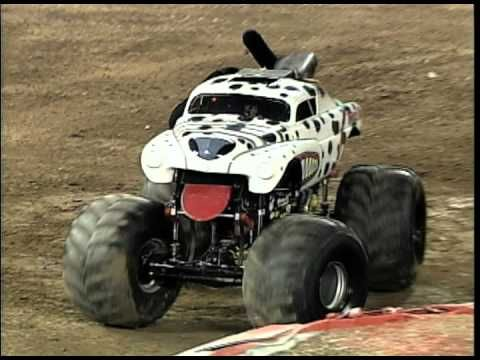 Monster Jam - Monster Mutt Dalmatian Monster Truck Invades Angel Stadium #monstertruck #monstertrucks #monsterjam