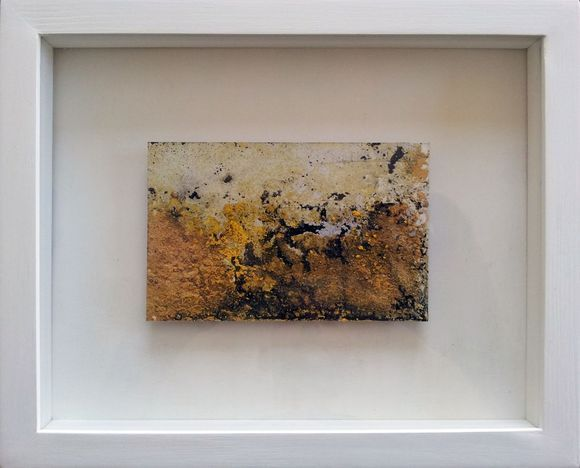 SULPHUROUS #painting #drawing #yellow #indianyellow #sulphur #adamgrose #smallpaintings #sales #forsale #gifts #Christmas #landscape #industry #topography #fluid #paint #pigment #explore