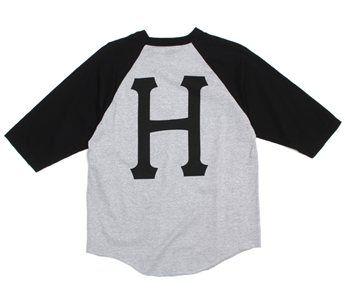 HUF Classic H Raglan > Baseball T-Shirts | Active Ride Shop