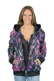 Muddy Girl Camo | Women's Pink Camo Zipper Hoodie