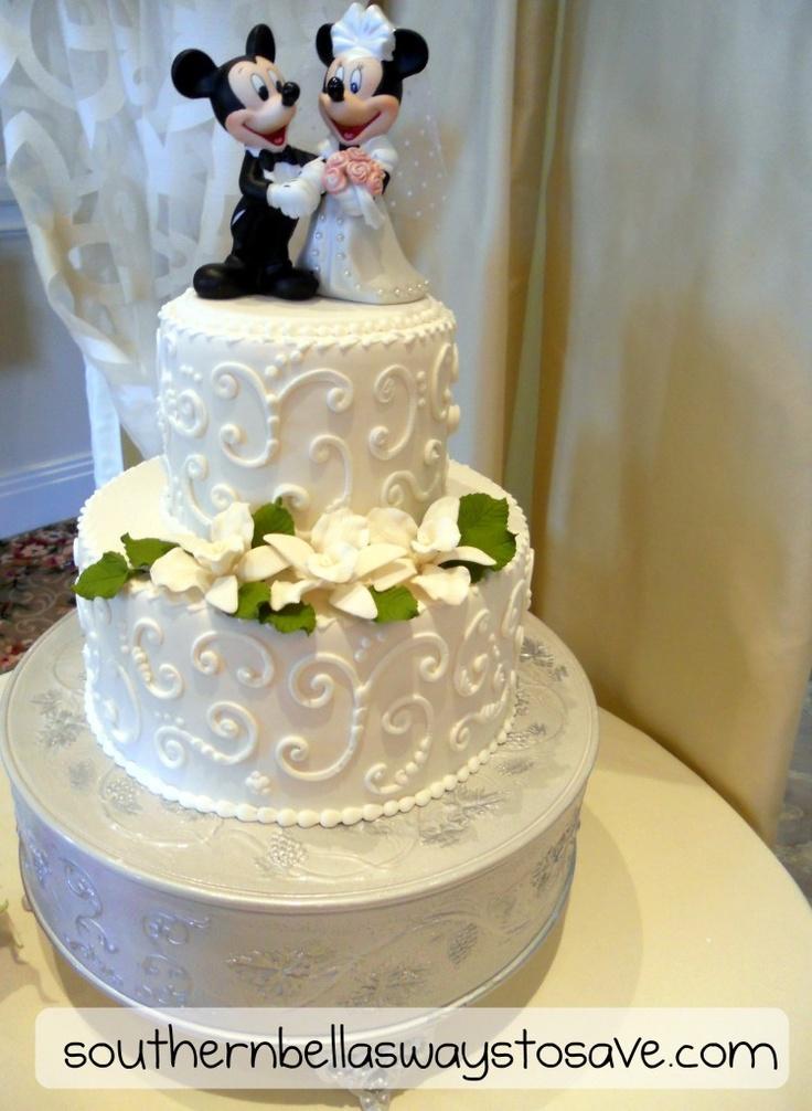 Mickey And Minnie Wedding Cake Would Love Something Like This Though Our Topper Is Diffe