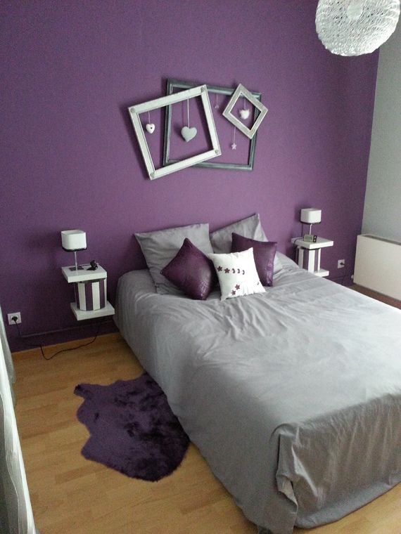 d co chambre gris et mauve. Black Bedroom Furniture Sets. Home Design Ideas