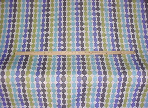 1-1/2 yards Romo 7463/02 Quintus in Lagoon - Luxury Printed Circle Transitional Linen Upholstery Drapery Fabric - Free Shipping