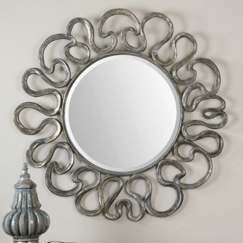 Aeneas Round Silver Mirror #mirror #furniture #homedecor #interiordecorating #custommade #french