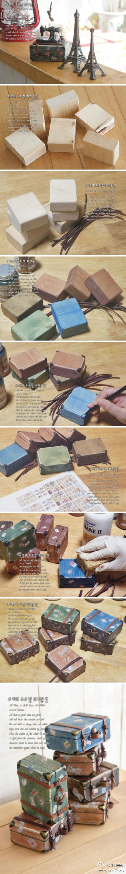 DIY: tiny suitcases tutorial #crafts #cute