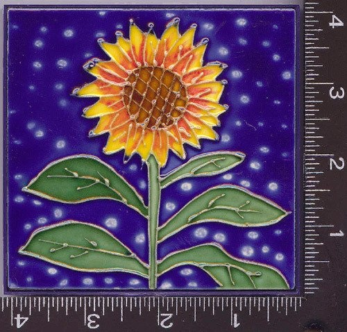 Painting Decorative Tiles 89 Best Sunflower Tiles Images On Pinterest  Sunflowers Room