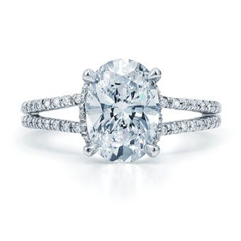 Possible future band change to my current engagement ring    Oval diamond ring by Kwiat