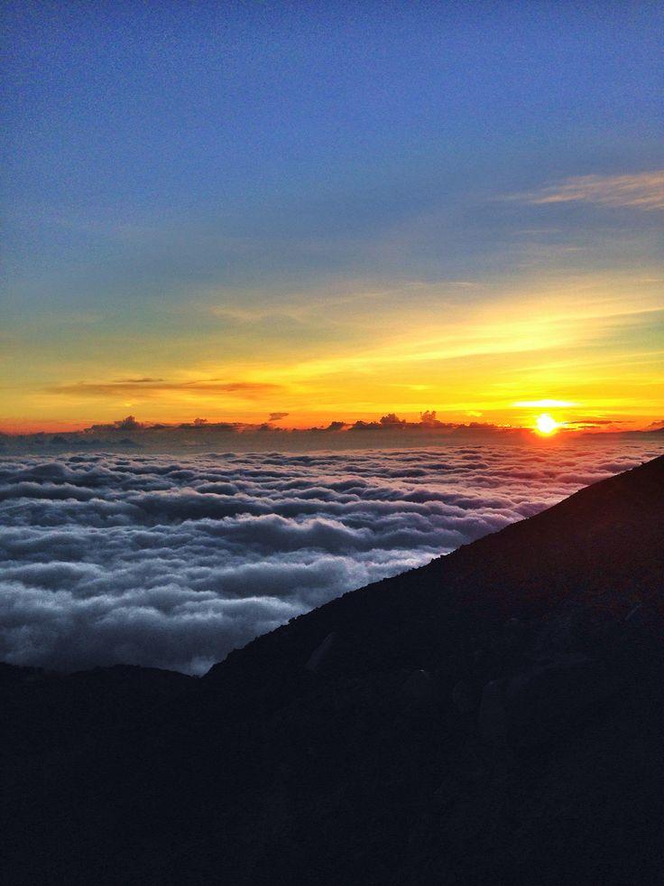 Sunrise at Semeru Mountain